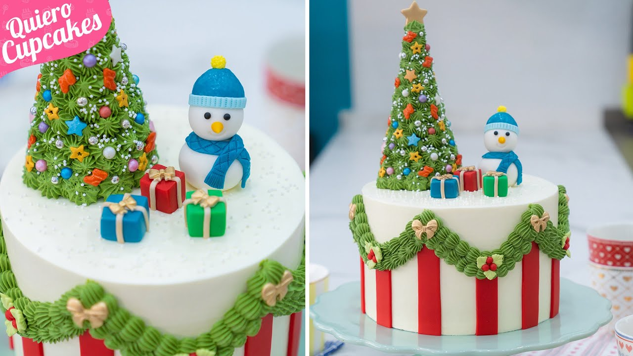 Decoración De Tarta Navideña Especial Navidad Quiero Cupcakes Youtube