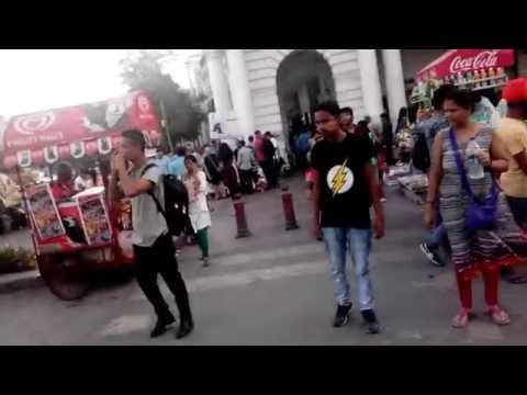 Walking in Connaught Place, New Delhi
