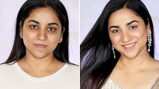 SIMPLE, NATURAL & GLOWY INDIAN FESTIVAL MAKEUP TUTORIAL   No Foundation!!