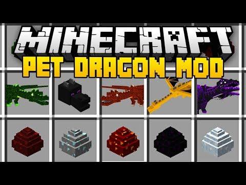 Minecraft PET DRAGON MOD (Mod Showcase)