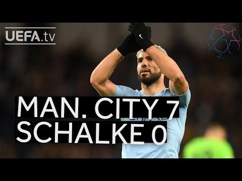 MAN. CITY 7-0 SCHALKE #UCL HIGHLIGHTS