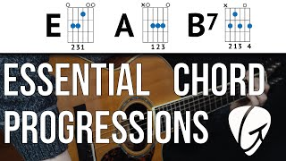 chord progression practice e a b7 country the blues and rock n roll easy guitar chords