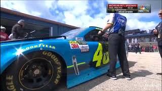 Monster Energy NASCAR Cup Series Michigan2 2017 Final Practice Johnson Crash