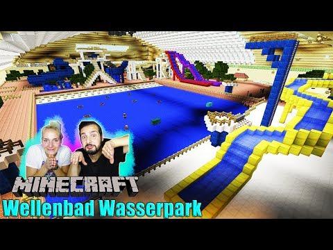 NINA + KAAN IM WELLENBAD! Wir reagieren auf Wasserpark bei Minecraft! Dorfbewohner ertrinken?