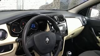 Montagem do painel na cor bege Renault Logan
