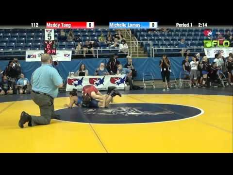 Junior WM 112 - Maddy Tung (California) vs. Michelle Lomas (Texas)