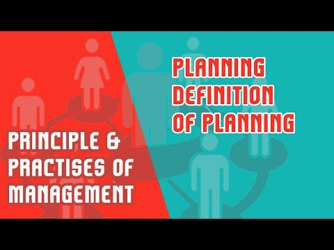 Planning -Definition of Planning | Nature | Importance & Types of Planning | PPM | Module 3 Part 1
