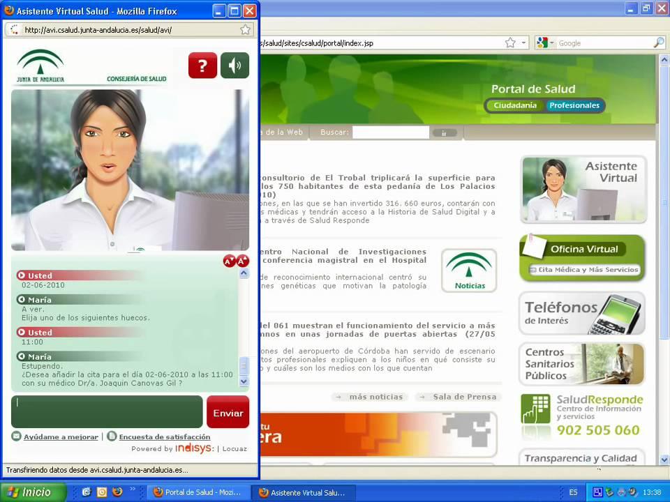 Petición de cita médica gracias al asistente virtual de la sanidad ...