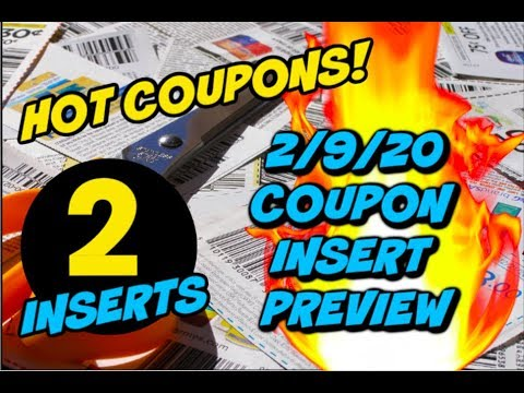 2 9 20 Coupon Insert Preview 2 Inserts Youtube