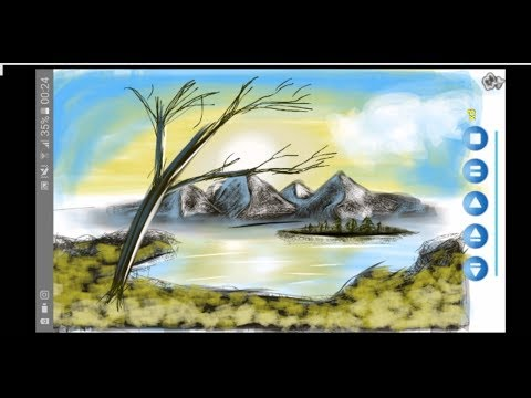 PAINTING ON A SMARTPHONE (ANDROID) – LANDSCAPE