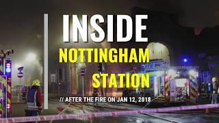 Inside Nottingham Station after the fire