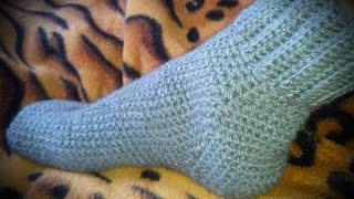 Вяжем носки крючком 2
