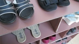 Diy : #30 Shoes Rack From Recycled Cardboard ♥