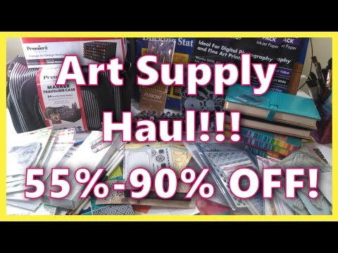 55%-90% off Art Supply Haul from Jerry's & AC Moore!