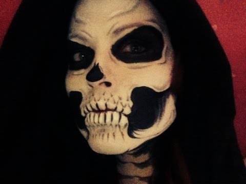 skull face painting youtube - Skeleton Face Paint For Halloween
