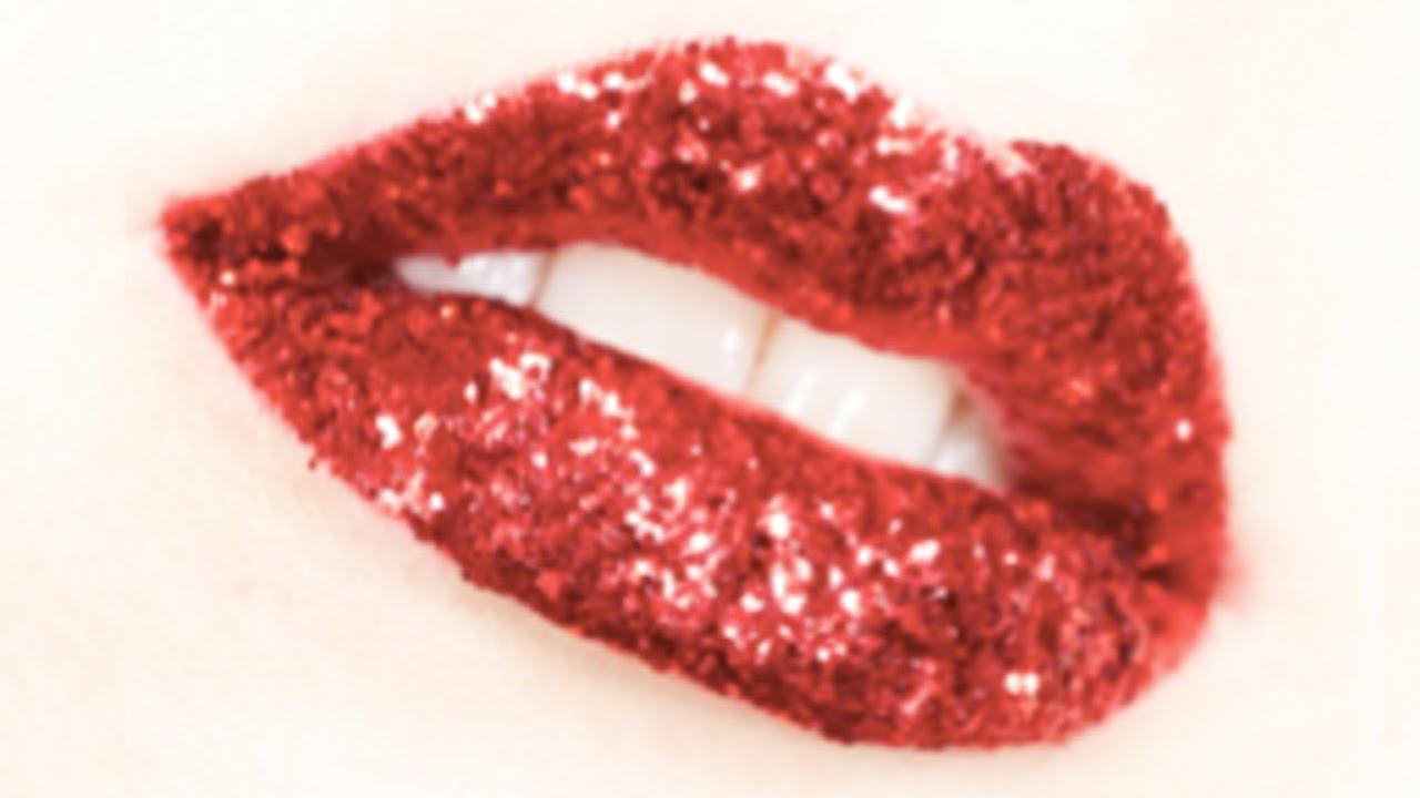 glitter lips youtube