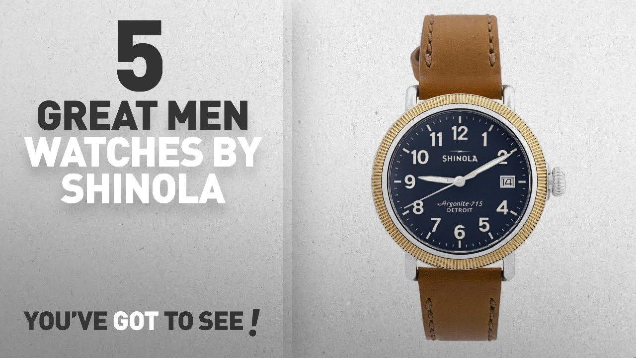 82e104c48 Top 10 Shinola Men Watches [ Winter 2018 ]: Shinola Runwell Blue Dial Tan  Leather Unisex Watch