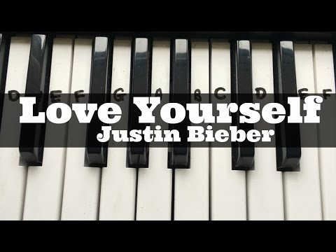 Love Yourself - Justin Bieber | Easy Keyboard Tutorial With Notes (Right Hand)