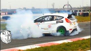 Track day - Slide and donuts - Mitsubishi Evolution 8 9  Ford Fiesta R5