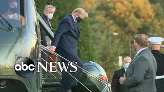 President Trump arrives to Walter Reed to be treated for COVID-19 | WNT