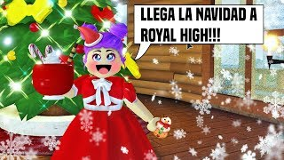 🎄CELEBRANING CHRISTMAS IN ROYALE HIGH - ROBLOX