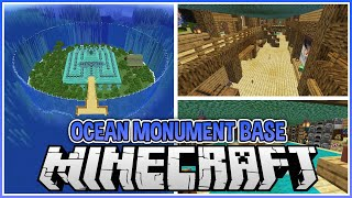 Turning a Minecraft Ocean Monument into a Base!