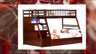 Twin Full Storage Step Bunk Bed 2 Drawers (espresso)