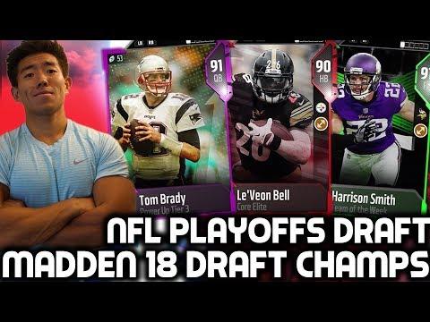 NFL PLAYOFFS DRAFT! Madden 18 Draft Champions