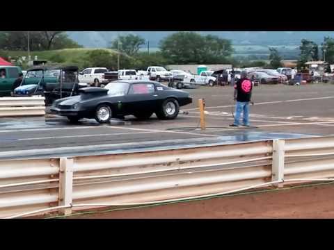 Black camaro Maui raceway park