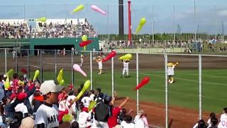 淡路佐野運動公園第一野球場1塁芝生席より撮影.