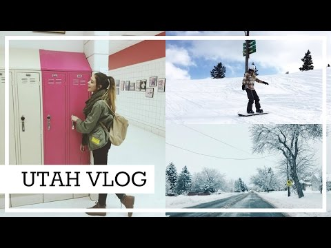 High School Musical Tour & Learning How To Snowboard | UTAH VLOG