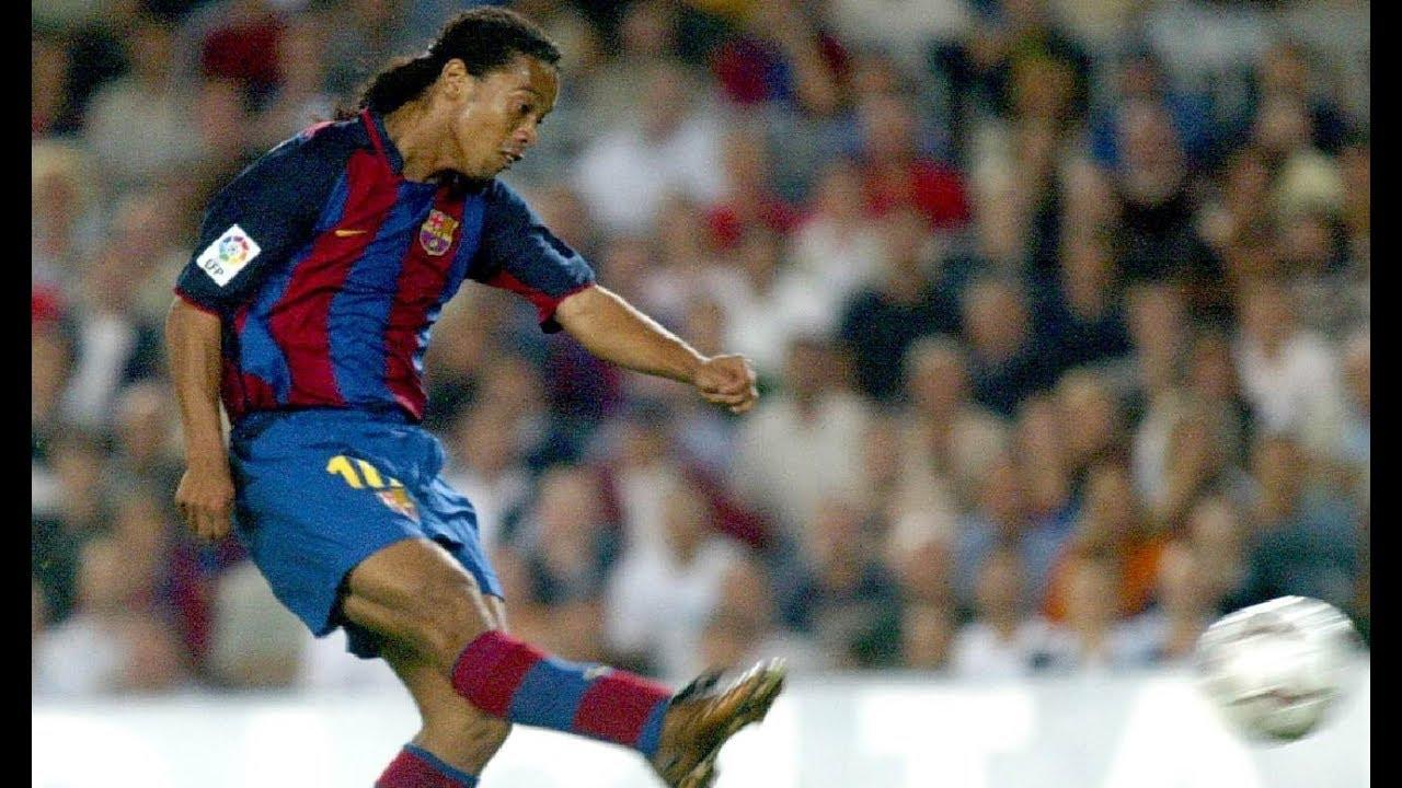 reputable site 6cfab 9b572 Ronaldinho's stunning goal against Sevilla (2003)