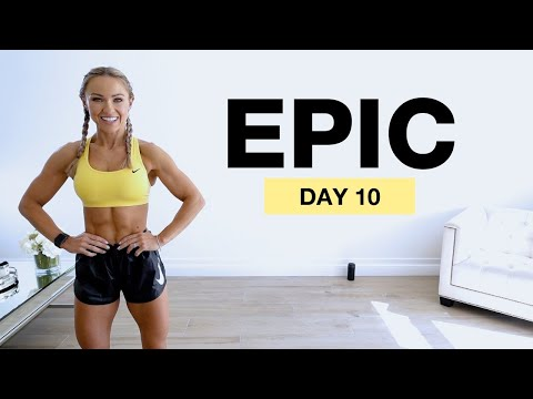 Day 10 of EPIC | 30 Min Full Body Burpee HIIT Workout No Repeat