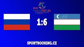 Match review RUSSIA VS UZBEKISTAN, ROUND 9 (World Futsal Championship 2016)