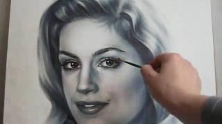 Портрет сухой кистью от Светланы Беловой