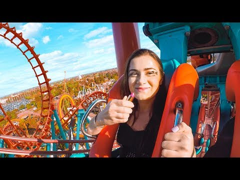 Doing my Makeup on a Rollercoaster! Extreme Makeup Challenge   CloeCouture