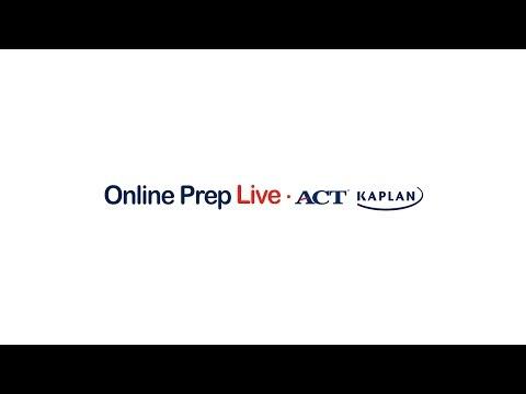 ACT Kaplan Online Prep Live Scores Back