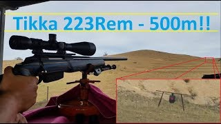 Tikka T3 .223rem - Long Range Load Validation - 500m