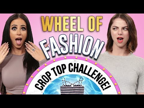 Thumbnail: CROP TOP CHALLENGE?! Wheel of Fashion w/ Amber Scholl & Allie Marie Evans