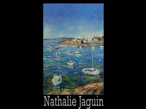 """""""Loguivy de la Mer"""" marine, peinture à l'huile par Nathalie JAGUIN"""