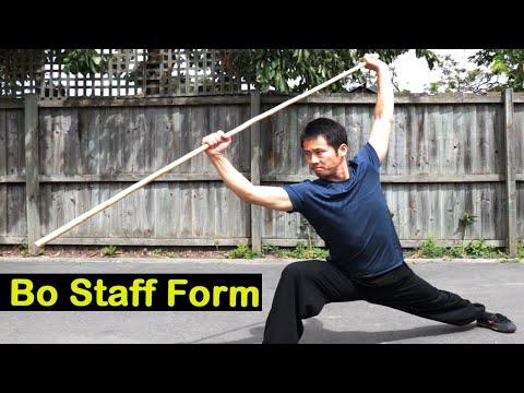 Shaolin Kung Fu Training - Yin Shou Staff Session 1
