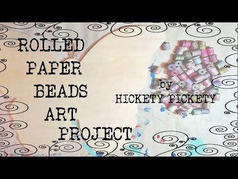 Rolled Paper Bead Art Tutorial DIY