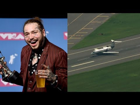 Plane carrying Post Malone, 15 others makes emergency landing