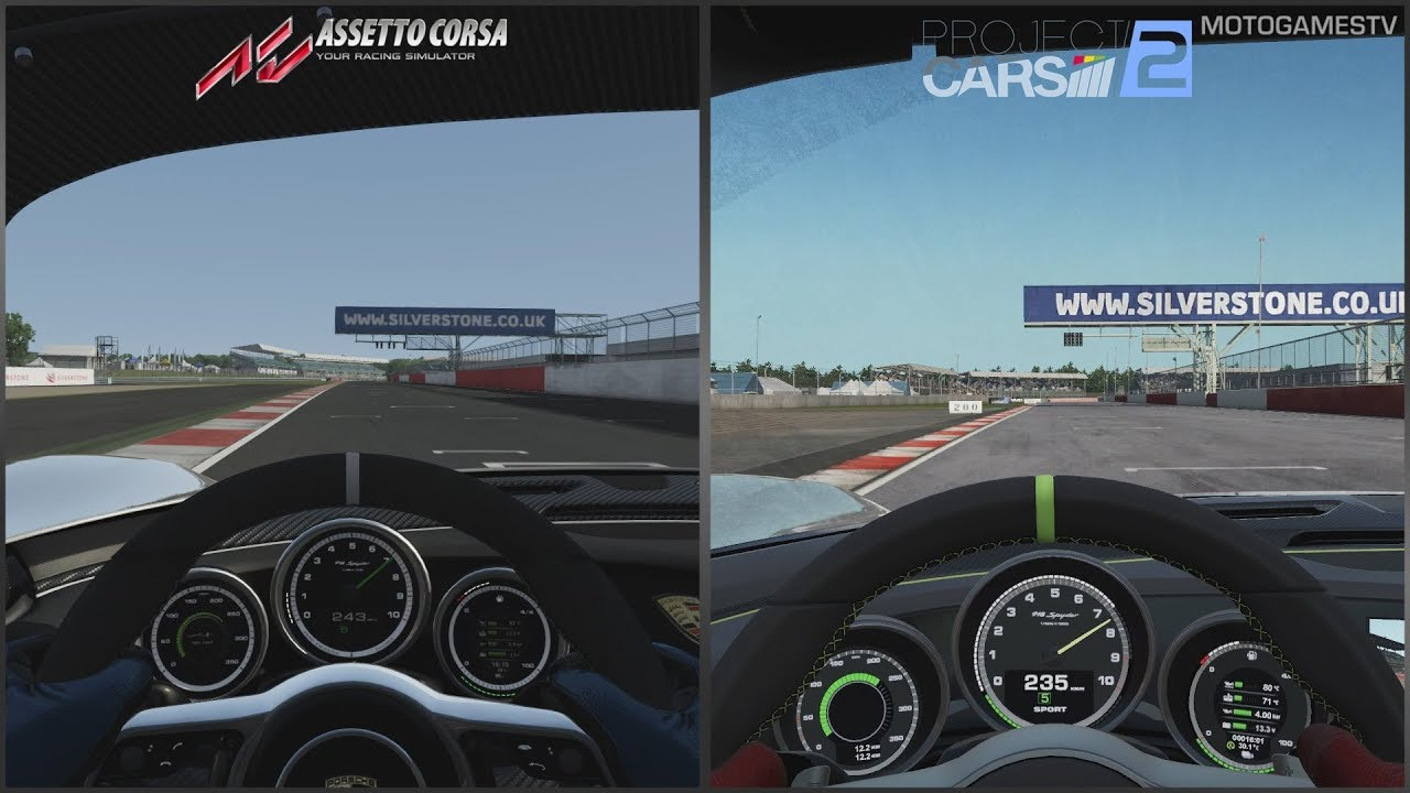 Assetto Corsa vs Project CARS 2 Preview Build - Porsche 918 Spyder ...