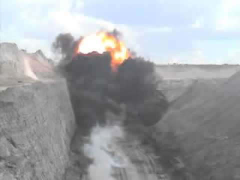 Coal Blast With Massive Fireball And Static Discharge!
