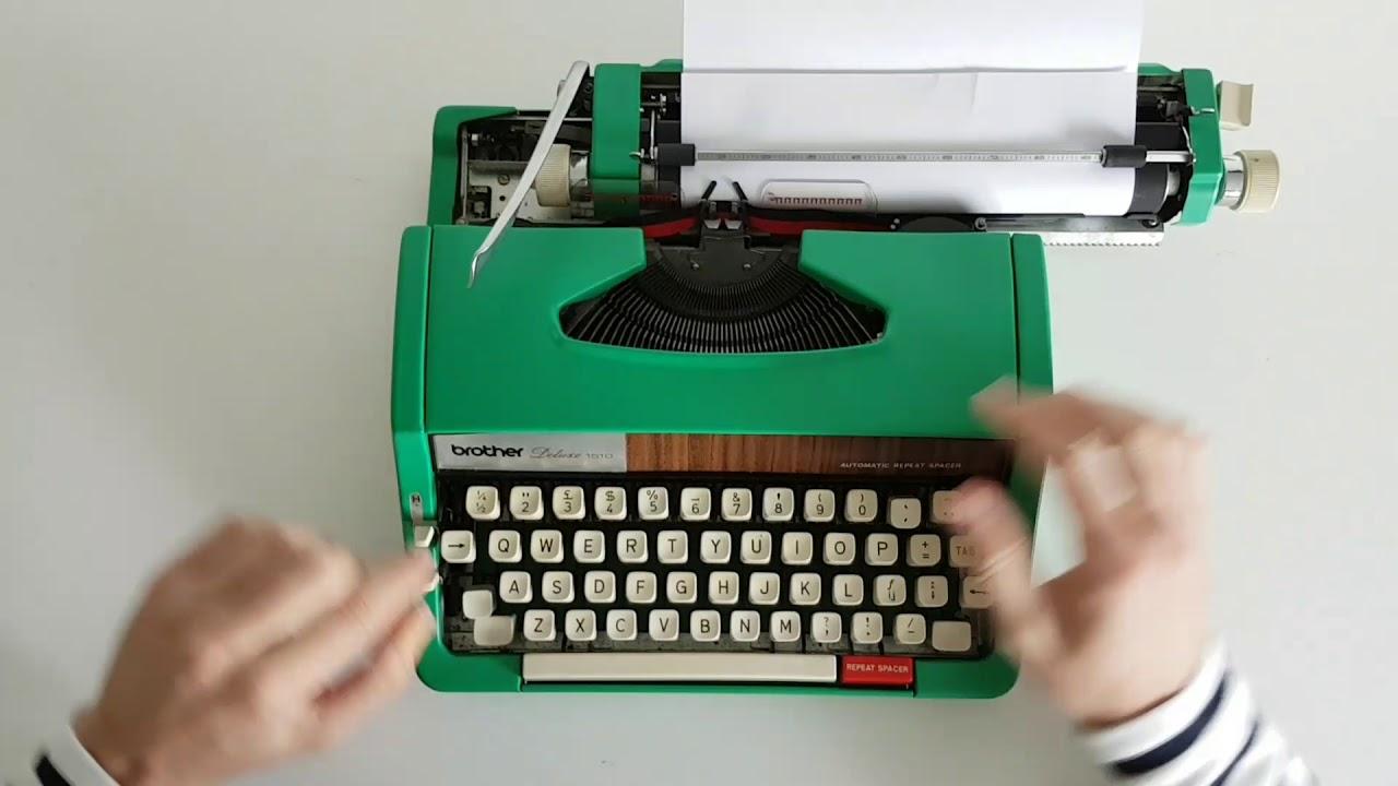 Tony's Typewriters - Brother Deluxe 1510