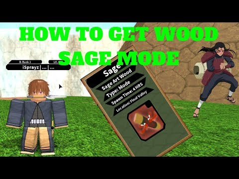 NRPG: BEYOND| HOW TO GET HASHIRAMA'S SAGE MODE (SAGE ART WOOD) [ROBLOX]