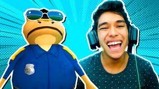 AJUDEI O SAPO POLICIAL !! ( Amazing Frog )