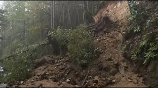 STORM COVERAGE:  Raw Video Of Slide Near Felton In Santa Cruz Mountain