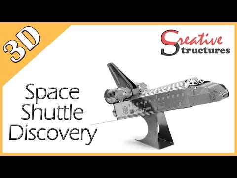 3D metal model & puzzle - Space Shuttle Discovery (Aviation)